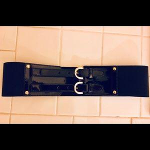 Liz Claiborne Accessories - Black Wide Waist Fashion Belt